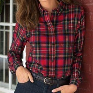 L.L. Bean Scotch Plaid Flannel Shirt